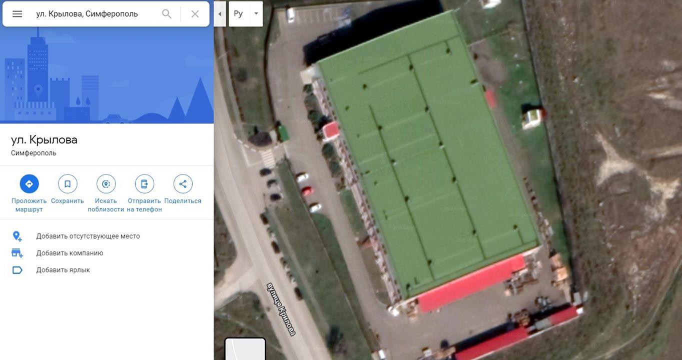 Снимок Google карты.